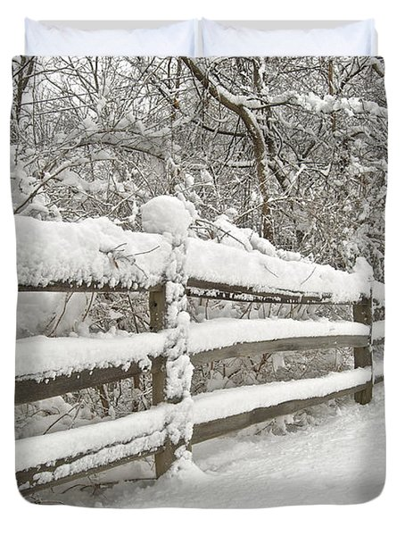 Snowy Morning Duvet Cover by Michael Peychich