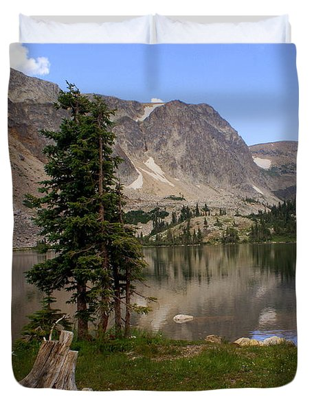 Snowy Mountain Loop 5 Duvet Cover by Marty Koch