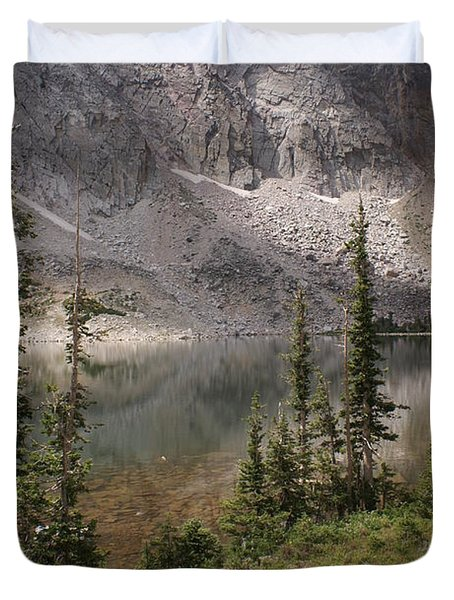 Snowy Mountain Loop 6 Duvet Cover by Marty Koch