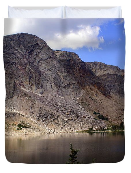 Snowy Mountian Loop 8 Duvet Cover by Marty Koch