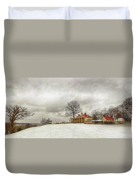 Snowy Mt Vernon Duvet Cover