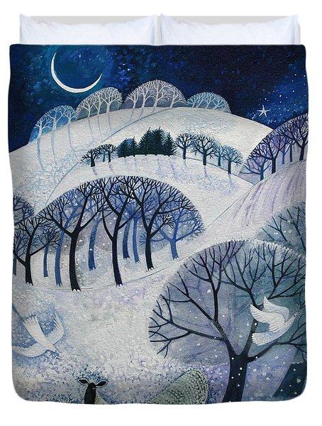 Snowy Night  Duvet Cover by Lisa Graa Jensen