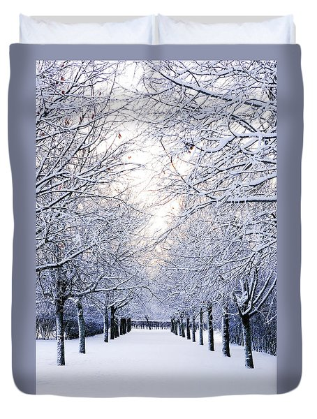 Snowy Pathway Duvet Cover