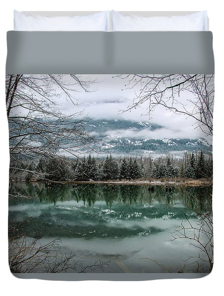 Snowy Reflection Duvet Cover