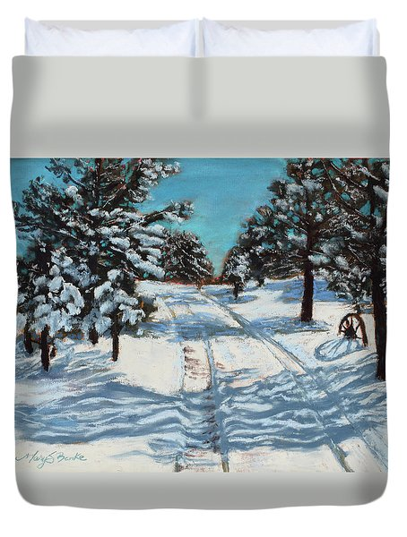 Snowy Road Home Duvet Cover