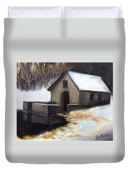 Fallen Snow Duvet Cover by Dustin Miller