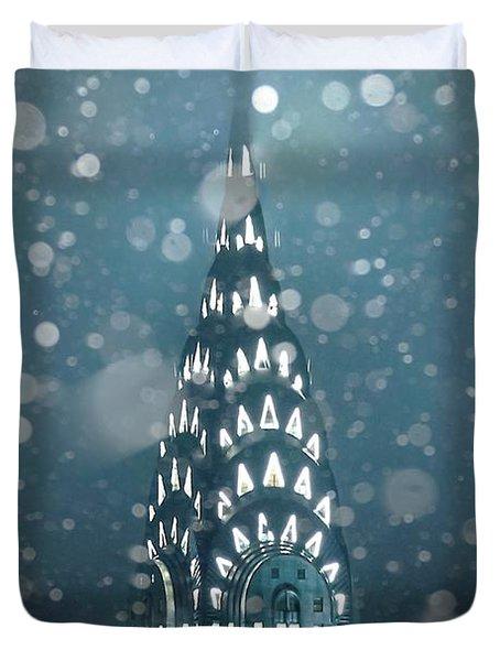Snowy Spires Duvet Cover by Az Jackson