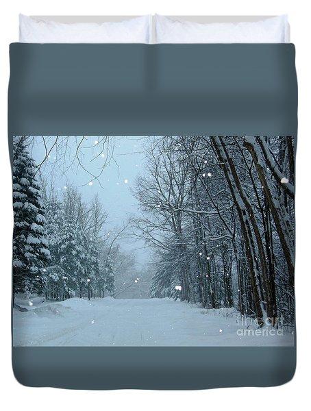 Snowy Street Duvet Cover