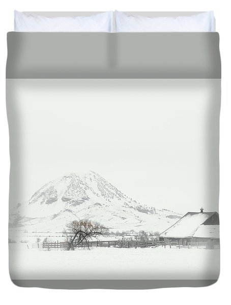 Snowy Sunrise Duvet Cover