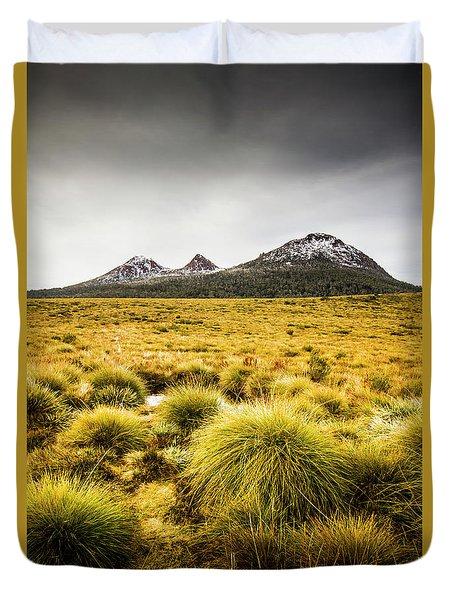 Snowy Tasmania Mountain Top Duvet Cover