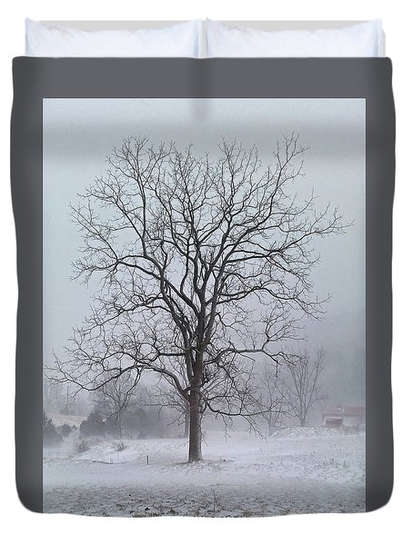 Snowy Walnut Duvet Cover