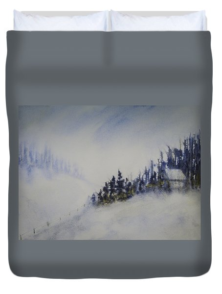Snowy Winter Duvet Cover