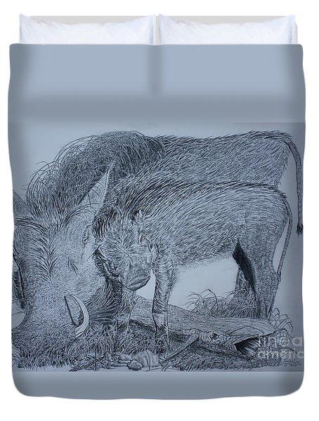 Snuggle Duvet Cover by David Joyner