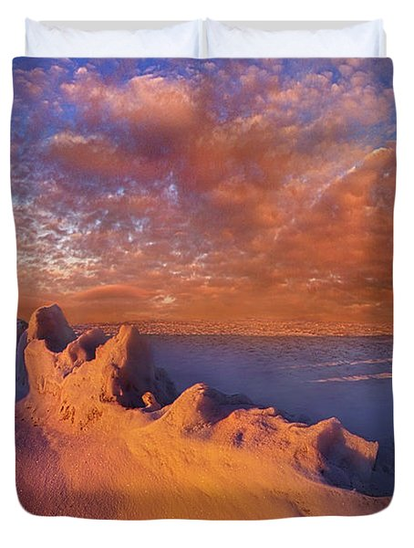 Duvet Cover featuring the photograph So It Begins by Phil Koch
