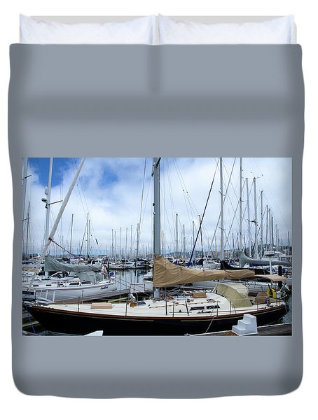 So Many Sailboats Duvet Cover by Laura DAddona