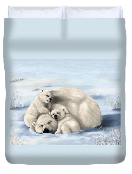 Duvet Cover featuring the painting So Much Love by Veronica Minozzi