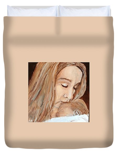 Duvet Cover featuring the painting So This Is Love by MaryAnne Ardito