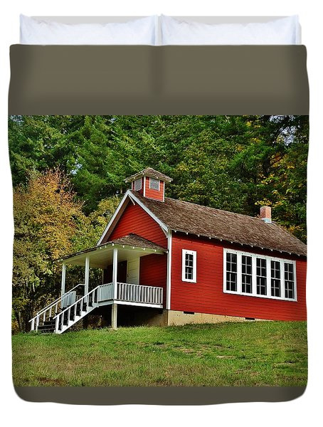 Soap Creek Schoolhouse Duvet Cover