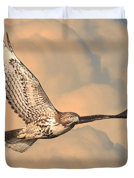 Soaring Hawk Duvet Cover