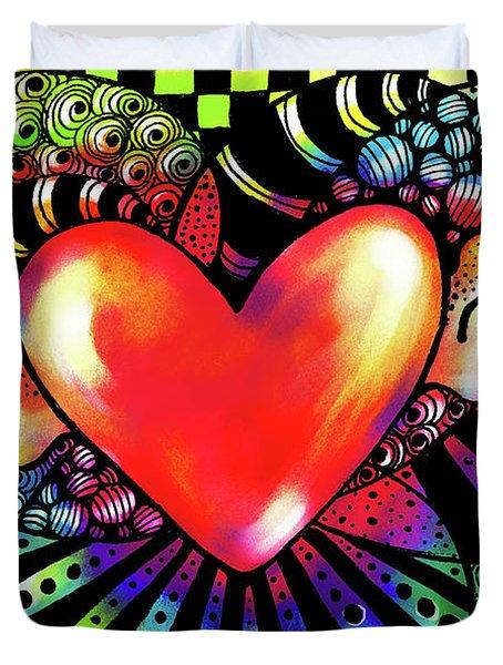 Soaring Heart Coloration Duvet Cover