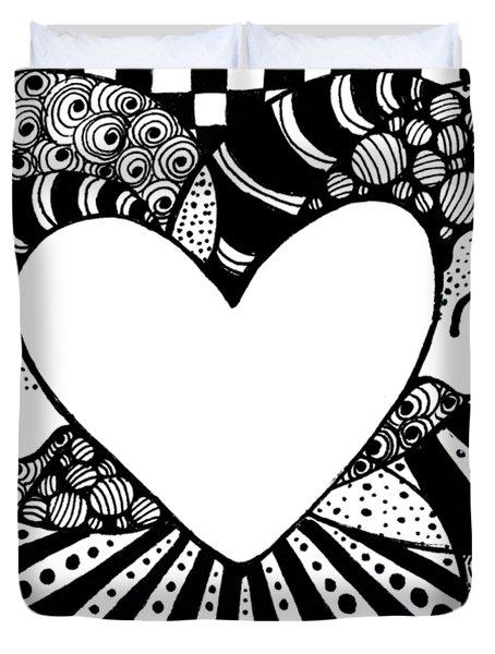 Soaring Heart  Duvet Cover by Nada Meeks