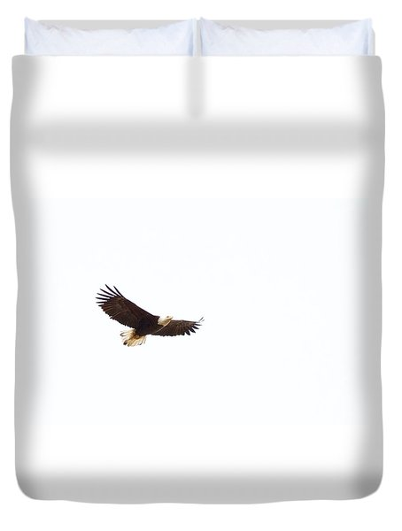 Duvet Cover featuring the photograph Soaring High 0881 by Michael Peychich
