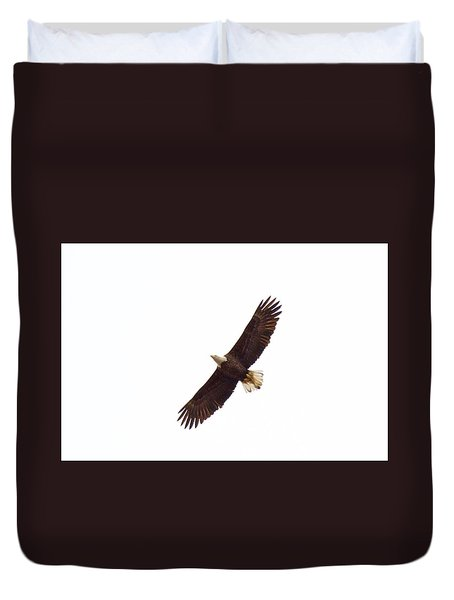 Duvet Cover featuring the photograph Soaring High 0885 by Michael Peychich