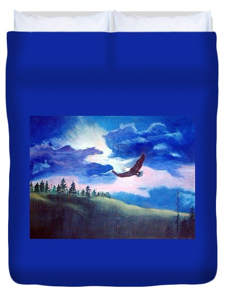 Soaring High Duvet Cover