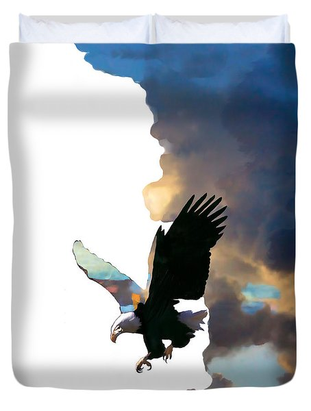 Soaring High Duvet Cover by Ursula Freer