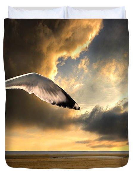 Soaring Inshore Duvet Cover by Meirion Matthias