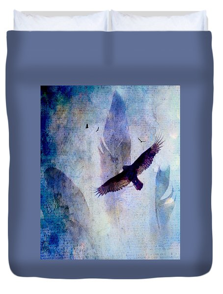 Duvet Cover featuring the digital art Soaring by Lisa Noneman