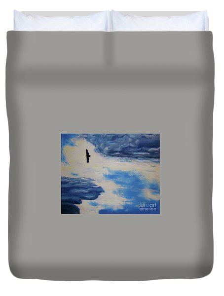 Soaring   Duvet Cover by Lisa Rose Musselwhite
