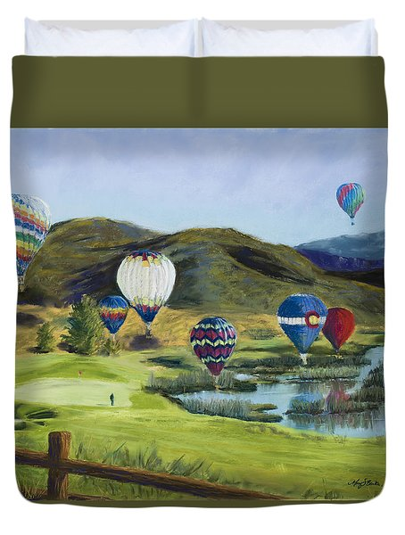 Soaring Over Colorado Duvet Cover