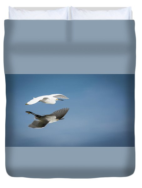 Soaring Over Still Waters Duvet Cover