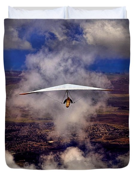 Soaring Through The Clouds Duvet Cover