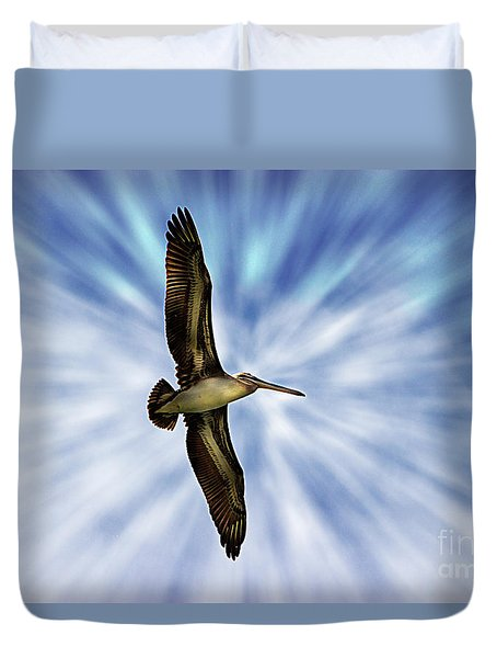 Soaring With Ease At Puerto Lopez Duvet Cover