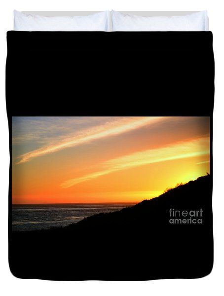 Duvet Cover featuring the photograph Socal Sunet by Clayton Bruster