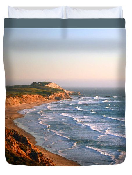 Socal Sunset Ocean Front Duvet Cover