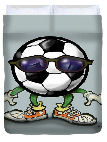 Soccer Cool Duvet Cover by Kevin Middleton