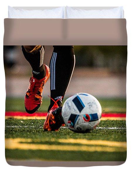 Soccer Duvet Cover by Hyuntae Kim