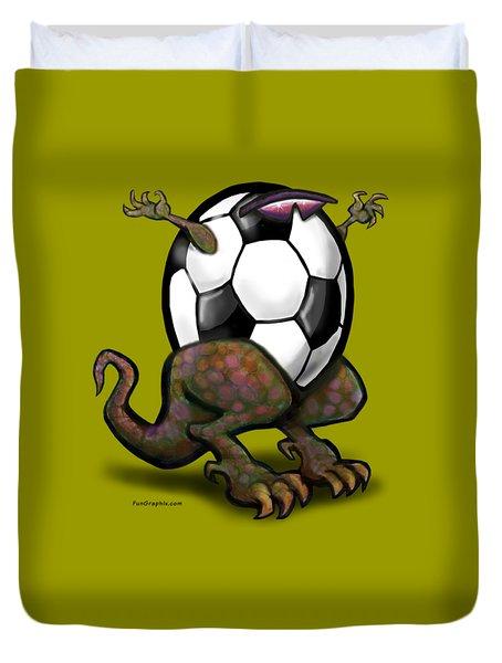Soccer Zilla Duvet Cover