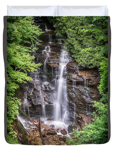 Duvet Cover featuring the photograph Socco Falls by Stephen Stookey