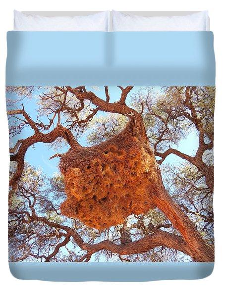 Social Weaver Nest Duvet Cover