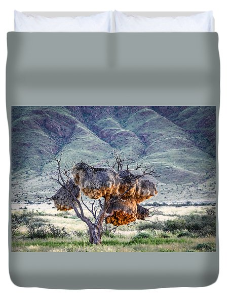 Social Weaver Nests Duvet Cover by Gregory Daley  PPSA
