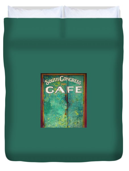 Soco Cafe Doors Duvet Cover