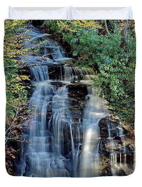 Soco Falls In Fall Duvet Cover