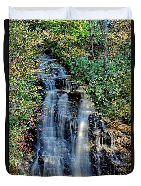 Soco Falls In Fall Duvet Cover