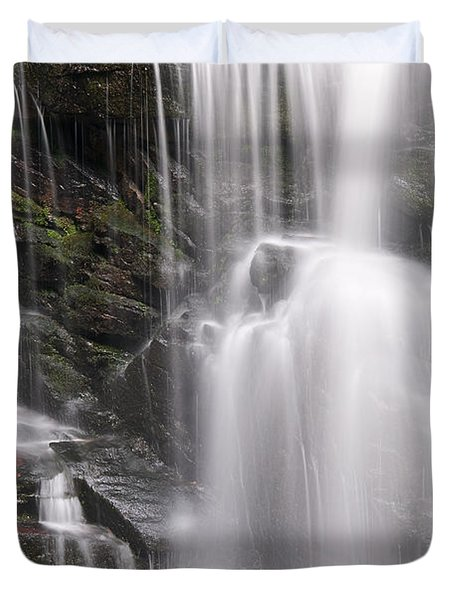 Soco Falls North Carolina Duvet Cover