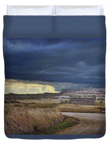 Duvet Cover featuring the photograph Sod House - Prairie by Nikolyn McDonald