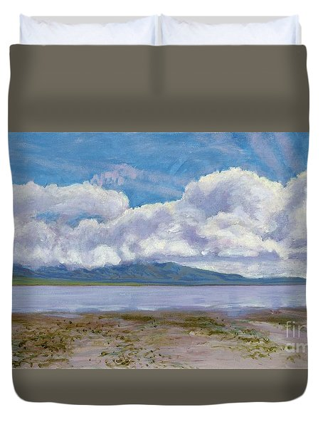 Soda Lake After The Storm Duvet Cover